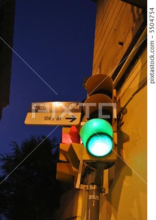 红绿灯 交通灯 西班牙