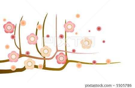 插图素材: 梅花 日本梅子 梅