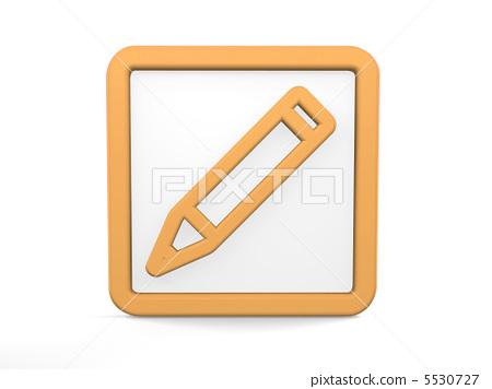 铅笔和尺子图标_乐乐简笔画