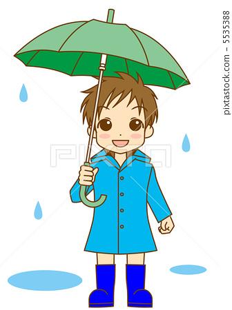 卡通雨衣简笔画