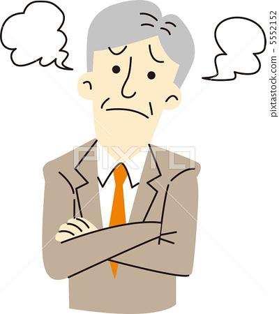 图库插图: 烦恼 担心 苦恼