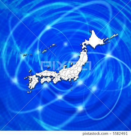 日本 轮廓图 空白地图