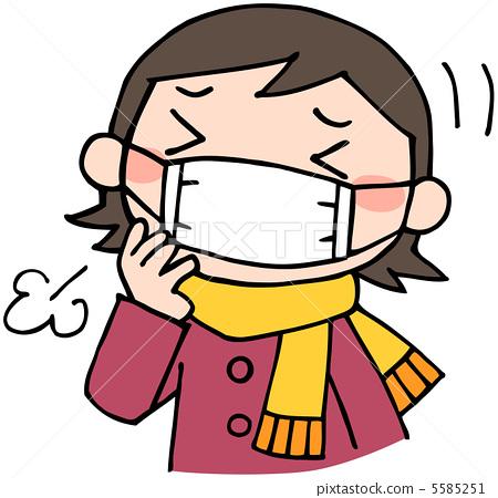 日用品 医疗_医疗用品 口罩 预防感冒 寒冷 感冒  *pixta限定素材仅在