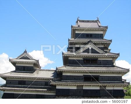 照片 日本风景 长野 松本城 城堡 城堡塔楼 天守阁  *pixta限定素材仅