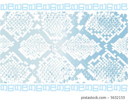 插图素材: 新年卡2013年蛇纹浅蓝色