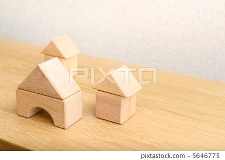 房屋 石块 积木房子