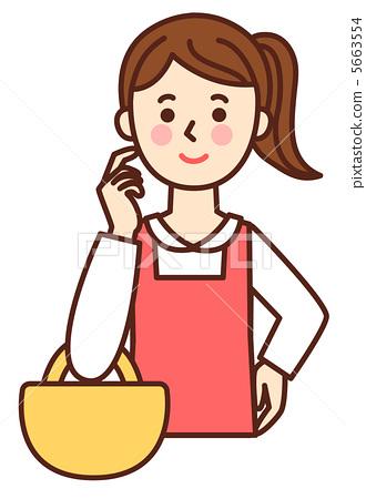 购物 首页 插图 人物 女性 主妇 主妇 家庭主妇 购物  *pixta限定素材