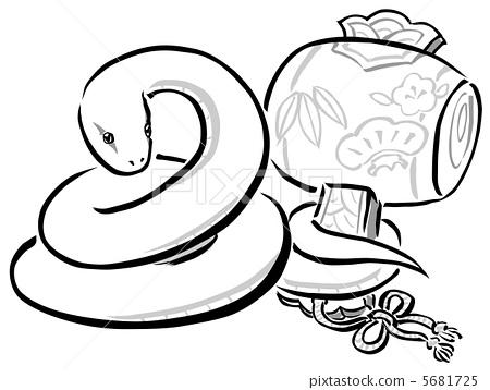 蛇 白蛇 大毒蛇_乐乐简笔画