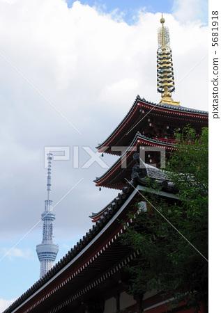 五重塔 塔 东京晴空塔