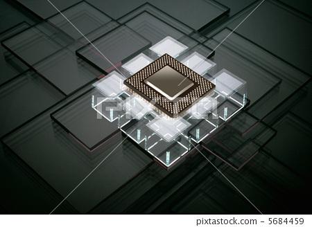 集成电路芯片 颗粒 商业照片