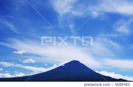 日本风景 山梨 富士山 照片 蓝色富士 富士山 沉默 首页 照片 日本