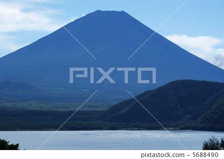 富士山 蓝色富士 夏天的富士山