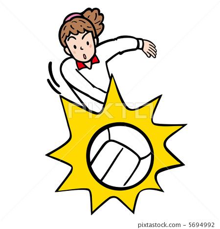插图素材: 排球 运动员 选手