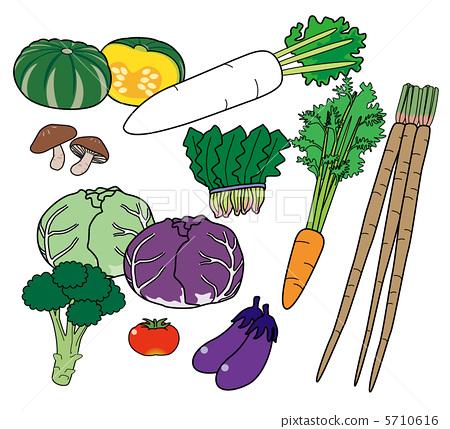 图库插图: 西兰花 花椰菜 胡萝卜
