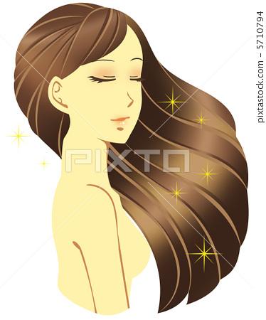 长头发 长发 头发