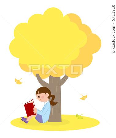 阅读 书 银杏树