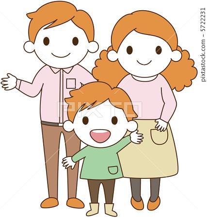 父亲和孩子卡通