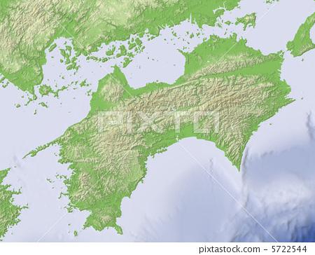 四国地区 地图 地图学