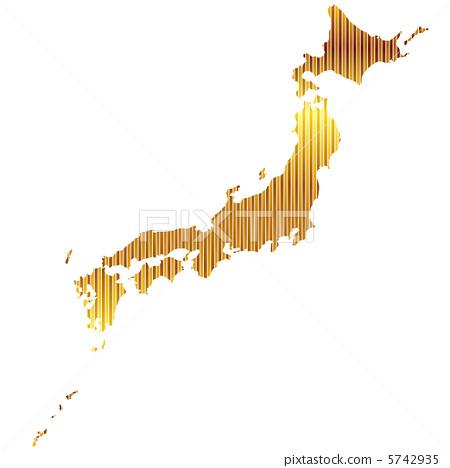 向量图 日本地图 日本