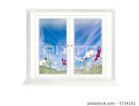 插图素材: 窗边 在窗户旁 观点