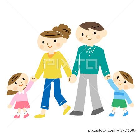 父亲和孩子卡通图片