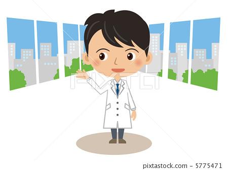 插图素材: 研究人员 药剂师 医生