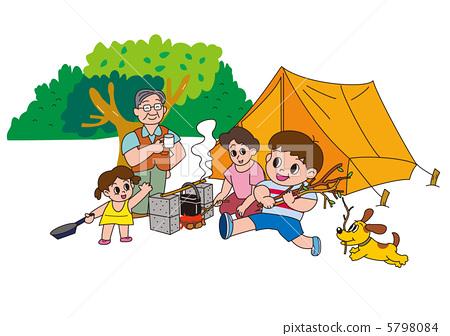 插图素材: 营地 露营 妈妈