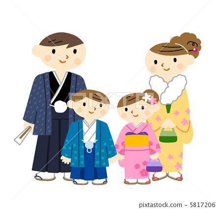 插图素材: 爸爸 家庭 家族
