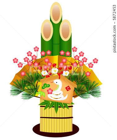 图库插图: 新年的圣诞树装饰 元旦 生肖