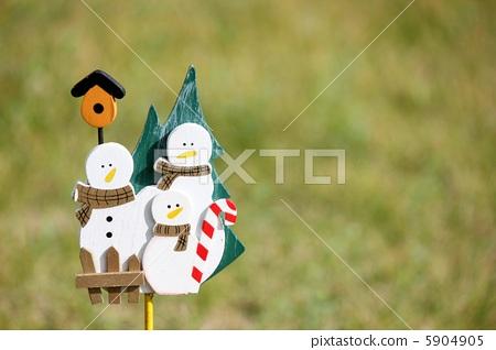 雪人 父母和小孩 可爱