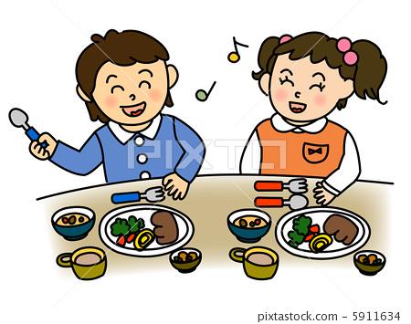 健康饮食 餐 孩子