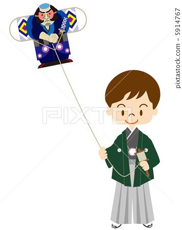 儿童 放风筝 孩子