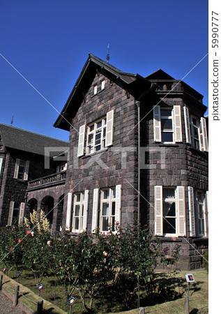 图库照片: 西式房子 国家级风景区 信誉良好的花园