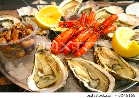 海产品 鱼和贝类 水果海洋