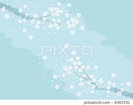 图库插图: 日本杏花 一朵梅花 矢量