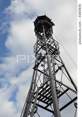 火警瞭望塔 铃铛 电缆塔-图库照片 [6083836] - pixta