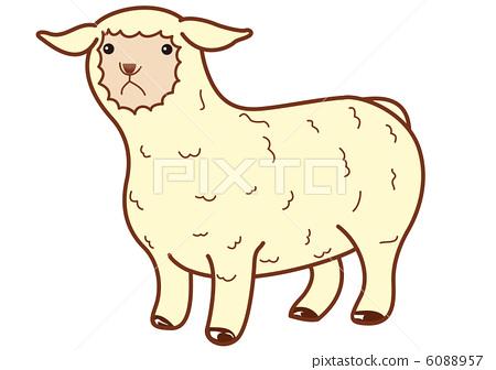 图库插图: 矢量 绵羊 羊