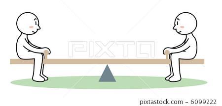 插图素材: 跷跷板(均衡)