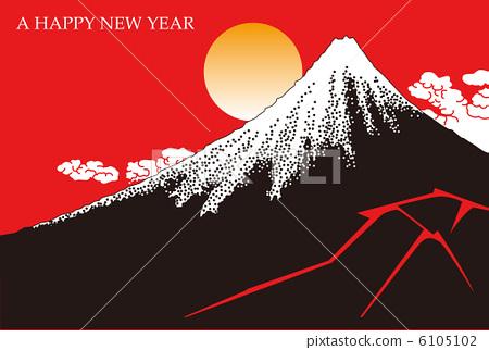 插图 日本风景 山梨 富士山 矢量 富士山 浮世绘  *pixta限定素材仅在