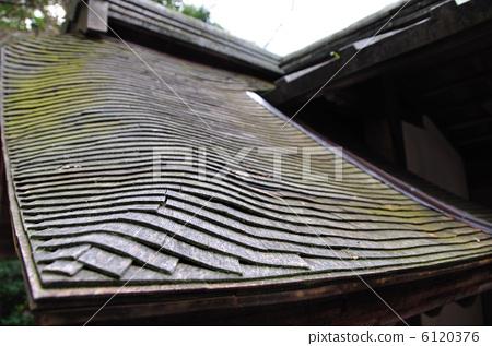 木瓦屋顶 叠瓦构造 盖木瓦的屋顶