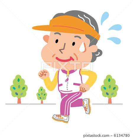 插图素材: 慢跑 奔跑 奔跑者