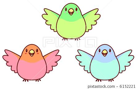 插图素材: 鸟儿 鸟 小鸟