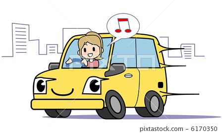 插图素材: 驾驶 开车 驾车