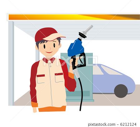 插图 矢量图 男人们 雄性 加油站