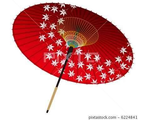 纸伞手绘图案公主