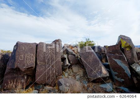 岩石艺术 美洲原住民 图画