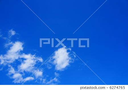 蓝蓝的天空 蓝天 蓝色-图库照片 [6274765] - pixta