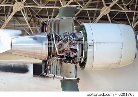 图库照片: 喷气发动机 引擎 发动机