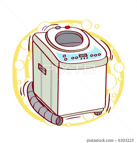洗衣机 图标 按钮