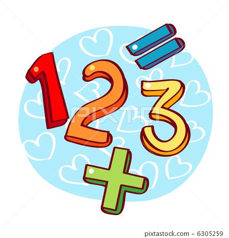 数学卡通图标